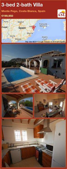 3-bed 2-bath Villa in Monte Pego, Costa Blanca, Spain ►€199,950 #PropertyForSaleInSpain
