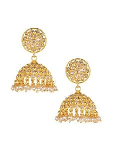 Checker Jhumki - Buy Designer Earring Collection Online at SilverCentrre.com - Product Code: SCW 95