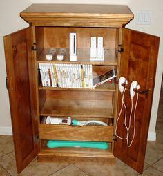 Video Game Storage Cabinet I Could Use 2 Of These In The House.