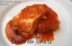 Bonito con tomate tradicional. | La Cocina de la Abuela