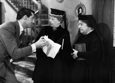 Arsenic and Old Lace.  A screwball comedy featuring murderous old ladies, a Frankensteinish villain, a creepy dark house and a hilarious Cary Grant at his physical comedy best...all set against the back drop of Halloween 1944.  What's not to love?