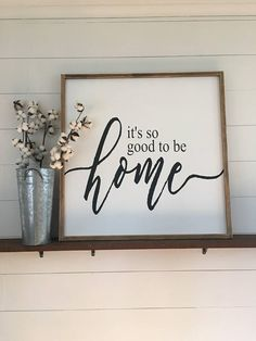 Love this! | Farmhouse Framed Style Its so good to be home Sign | etsy | handmade | for the home | wall art | home decor | rustic decor | farmhouse style | #farmhouse #farmhousestyle #rustic #rusticdecor #homedecor #home #wallart #framedart ad
