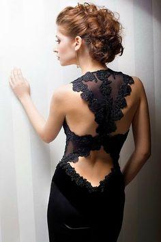 Gorgeous Black Lace Evening Dress