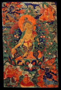 Tibetan buddhist thangka of green tara tibet visual dharma art kilsoquah orange tara purifying all poverty tibetan drol ma mar ser number 11 from the set of 21 taras of the lineage of lord atisha fandeluxe Images