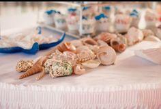 Sea shell on wedding table
