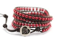 Leather Wrap Bracelet by Shelley Haines on Etsy!