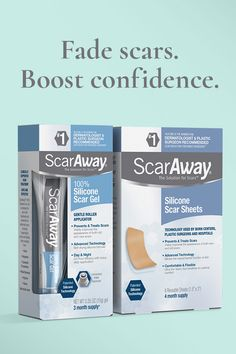 Fade Your Scars. Boost Your Confidence. No Office Visit Required. Whether your scar is weeks, months, or years old, you have the power to fade its appearance. ScarAway is doctor-recommended with medical-grade silicone technology. You'll watch your scar be Do It Yourself Home, Improve Yourself, Confidence Boost, Do Exercise, Physical Exercise, Silicone Gel, Hair Conditioner, Skin Treatments, Easy Workouts