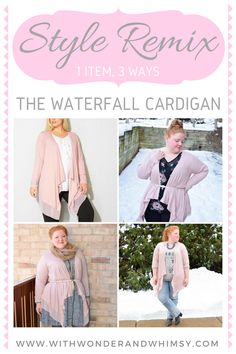 I review a versatile waterfall cardigan from Avenue and style it three ways. Each look features a frosty pink and grey palette, perfect for wintertime! #avenue #aveplus #avenueplus #waterfallcardigan #waterfallcardi #opencardigan #cascade #opencardi #flyawaycardigan #flyawaycardi #psootd #outfit #ootd