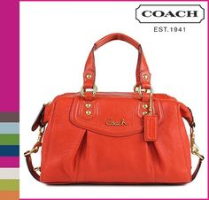 'BNWT, F19247 Coach Ashley Leather Satchel, Vermillion' is going up for auction at  5pm Sun, Sep 1 with a starting bid of $1.