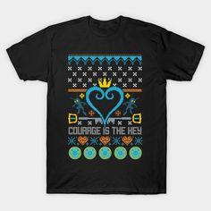 Kingdom Ugly Sweater T-Shirt - Kingdom Hearts T-Shirt is $14 today at TeePublic!