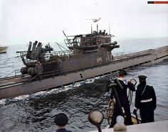 Surrender of U-889 to the Royal Canadian Navy near Shelburne, Nova Scotia, 13 May 1945 @RCN_MRC @RCN_MARLANT