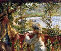 Near The Lake by Pierre Auguste Renoir
