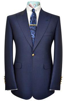 The Artlett Oxford Blue Blazer Dress Suits For Men, Suit And Tie, Mens Suits, Mens Fashion Blazer, Suit Fashion, Luxury Fashion, Made To Measure Suits, Blue Suit Men, Summer Blazer