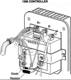 basic ezgo electric golf cart wiring and manuals | golf cart, Wiring diagram