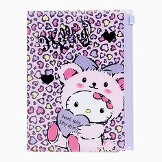 Hello Kitty case with notebook