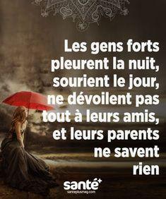 Alors je suis une personne forte Plus Plus - Lady Lily - Tout Pin - Alles Quote Citation, French Quotes, Bad Mood, Positive Attitude, Positive Quotes, Some Words, Things To Know, Mantra, Sentences