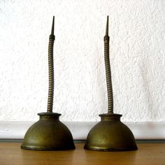 Antique Oil Cans Set of Two Bronze by nellsvintagehouse on Etsy,
