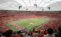 The SU Carrier Dome opened in Seats for football and for basketball. acres of great sports. University Of New Mexico, Syracuse University, University Of Washington, Syracuse Basketball, College Basketball, Basketball Shoes, Soccer, Syracuse New York, Sands