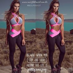 Pin by Silvana La Patrona on ropa deportiva gimnasio in 2019 Cute Workout Outfits, Workout Attire, Womens Workout Outfits, Workout Wear, Sport Outfits, Train Hard, Gym Clothes Women, Gym Tops, Sporty Girls