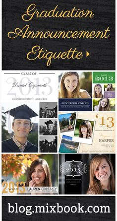 Graduation Announcement and Invitation Etiquette: College Graduation Announcements, College Graduation Parties, Graduation 2016, Graduation Celebration, Graduation Pictures, Grad Parties, Graduation Gifts, Graduation Quotes, Etiquette Classes