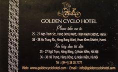 The Golden Cyclo Hotel – Hanoi