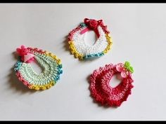 Lembrançinha de Maternidade Babadorzinho em crochê babero de ganchillo recuerdo de maternidad - YouTube