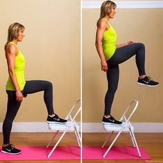The step-up is one of the best exercising for lifting the butt according to trainer Valerie Waters.