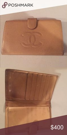 Chanel Wallet 100% authentic wallet. Natural wear, 8/10 condition Chanel Bags Wallets