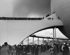 "The Perisphere at the '39 NY Fair--A clear forerunner to Epcot's ""spaceship earth."""