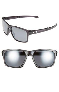 Men's Oakley 'Sliver F' 57mm Polarized Sunglasses - Matte Black/ Black Iridium