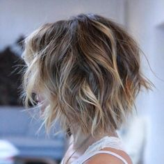 50 Mind-Blowing Simple Short Hairstyles for Fine Hair 2019 - Hair Styles Medium Shag Hairstyles, Bob Hairstyles For Fine Hair, Thin Hair Haircuts, Stacked Bob Hairstyles, Short Hairstyles For Women, Hairstyles Haircuts, Short Messy Haircuts, Messy Short Hair, Damp Hair Styles