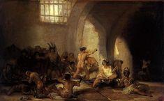 Artist             [show]Francisco de Goya (1746–1828)                                                                                           Title       Español: Casa de locos     English: The Madhouse     Norsk (bokmål): Galehuset         Date     from 1815 until 1819         Medium     painting