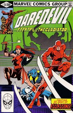 The cover to Daredevil #174 (1981), art by Frank Miller & Klaus Janson