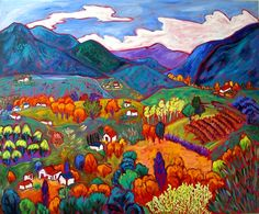 Barbara Gurwitz, Paintings at Wilde Meyer Gallery in Scottsdale and Tucson. October in the Mountains