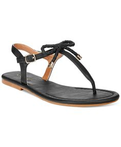 Nautica Women's Bahia T-Strap Bow Sandals
