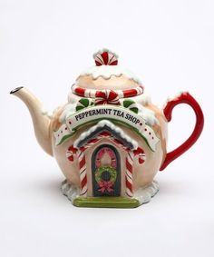 Another great find on #zulily! 'Peppermint Tea Shop' Teapot #zulilyfinds