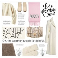 """Oh, the weather outside is frightful..."" by elisapar ❤ liked on Polyvore featuring Gucci, Uniqlo, Trina Turk, Chloé, Chanel and winterscarf"