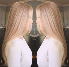 Full highlights on this beautiful blonde