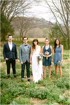 denim wedding reception | Denim-wedding-inspiration-bride-groom-cheers-white-wedding-dress-blue ...