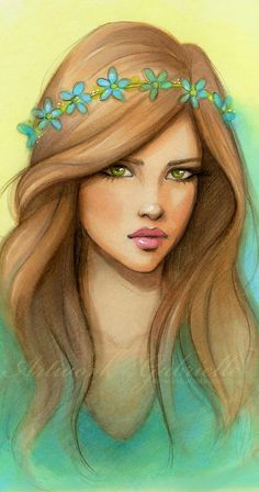 "As a Fairy / Come una Fata - ""July"" Art by gabbyd70 on deviantART (Artwork by Gabrielle)"