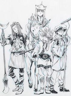 Гоку, Годзё, Санзо, Хаккай, Саюки, Saiyuki