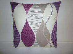 "PAIR Pillow Covers Damson Purple Grape 4 CHOICES Mix Match Designer Gray Cushion Covers Shams Slips Scatter Throw PAIR 16"" (40cm)"