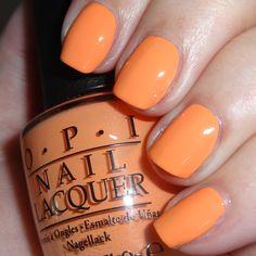 OPI Where did Suzi's Man-Go? #opi #orangenails #peachnails