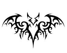 The Tribal Bat Metal Wall Sculpture is cut with a CNC Plasma Torch from 16 gauge cold rolled steel. It is approximately 18 inches wide by inches high. We love tribal art and this is just one of t Tribal Tattoo Designs, Tribal Animal Tattoos, Tribal Animals, Art Tribal, Tribal Eagle Tattoo, Tribal Wings, Metal Wall Sculpture, Wall Sculptures, Tattoos Skull