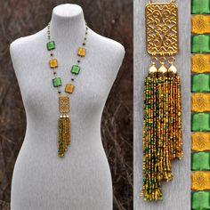 Мозаика - колье | biser.info - всё о бисере и бисерном творчестве