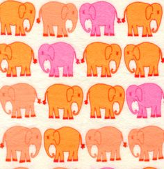 Bliss Flannel from Free Spirit Fabrics, elephants in orange, peach, pink