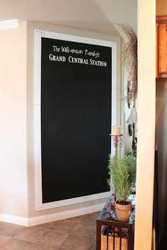Chalk Board Wall by Life in the Dub Lane