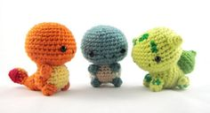 I usually ignore Pokemon-based amigurumi, but these are so charming.