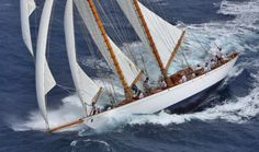 Schooner Adventuress, 1913 by William Fife, 133 ft at Antigua Classic Regatta 2015 - by Tim Wright Classic Sailing, Classic Yachts, Sailing Pictures, Sailboat Yacht, Extreme Sports, Sailing Ships, Sailor, Sailboats, Photography