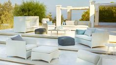 One of the hot new trends is furniture in textilene.  The Diamond Collection is made from powder coated aluminum that is then wrapped in CaneTex sling.  The cushions are also wrapped in the sling.  This makes for a very durable set of outdoor furniture.  It is maintenance free and can be left outdoors year round.
